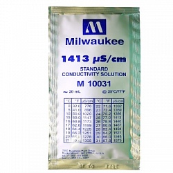 1413 µS/cm Conductivity Calibration Solution (box of 25x20 ml sachet) Milwaukee