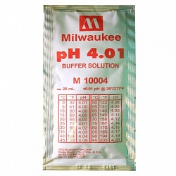 pH 4.01 Calibration Buffer Solution (box of 25x20 ml sachet) Milwaukee